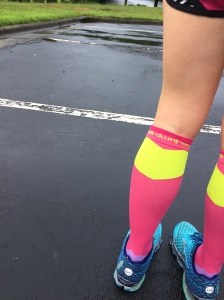 cool phrase inside sock says, run. jump. go. BUT wear socks unfolded up top. I just wanted to show off the the coolness.